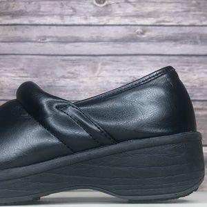 Safe T Step Black Slip On Work Clogs Non-Slip Shoe